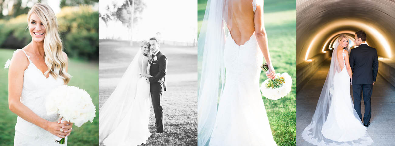 65298873049e Poipu Gown & Lizzie Veil Wed at Talega Golf Club - June, 2015