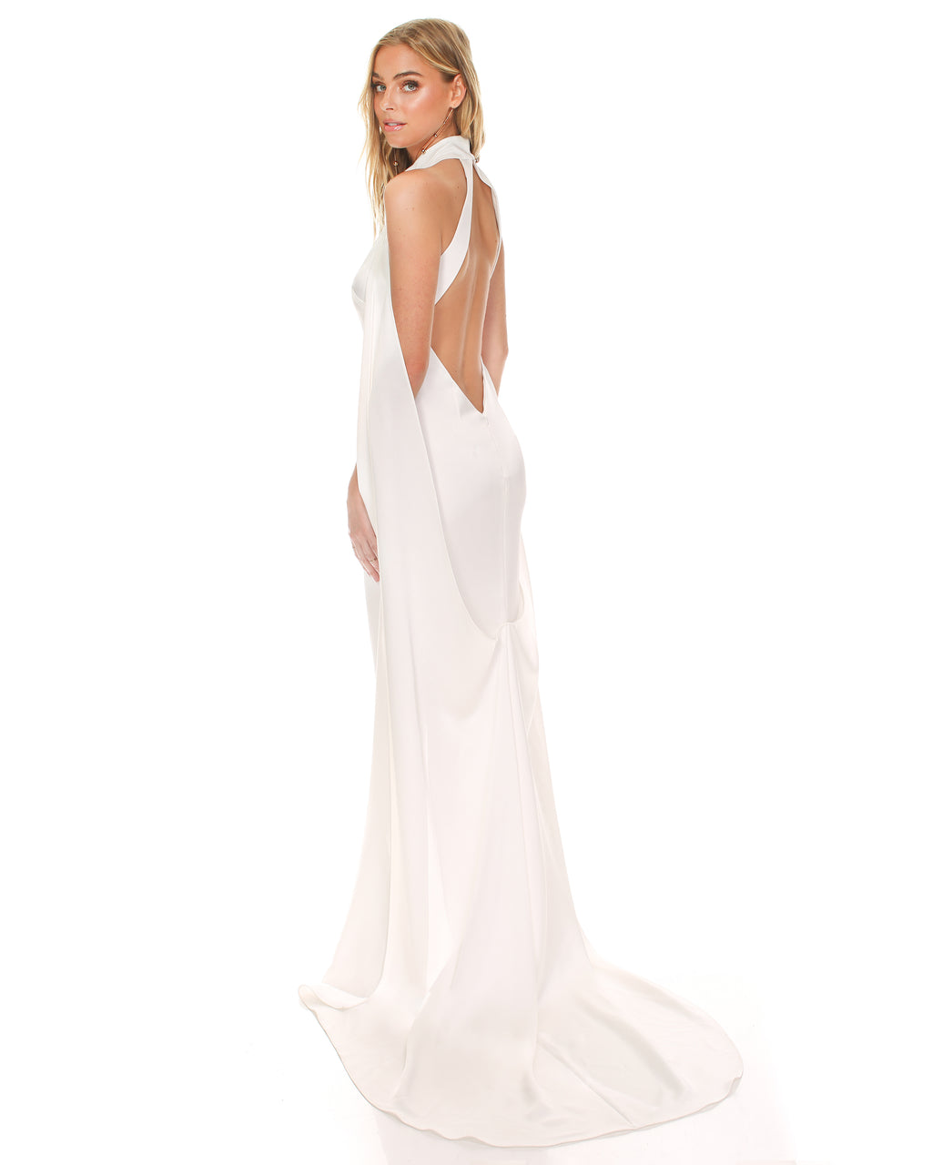 Model wearing Landmark bridal gown in Ivory by Noel & Jean by Katie May