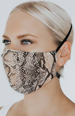 Model wearing Slitherina in Neutral Snake by Katie May
