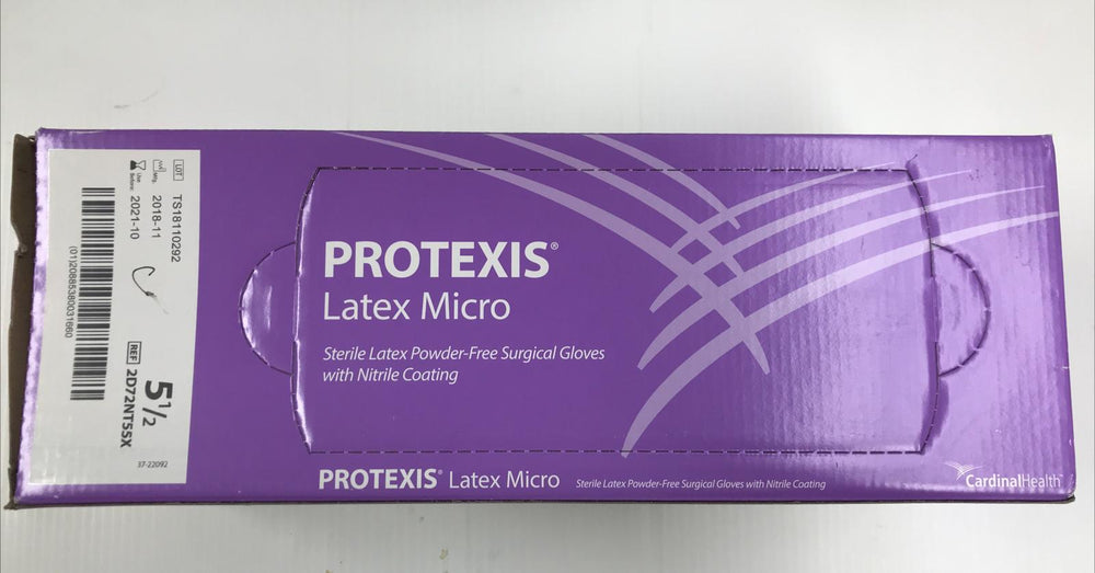 Cardinal Health Protexis 2D72NT55X Latex Micro Surgical Gloves Size 5-1/2 | KeeboMed