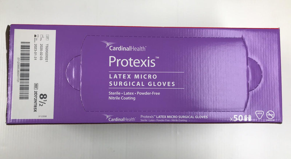 Cardinal Health Protexis 2D72NT85X Latex Micro Surgical Gloves Size 8-1/2 | KeeboMed