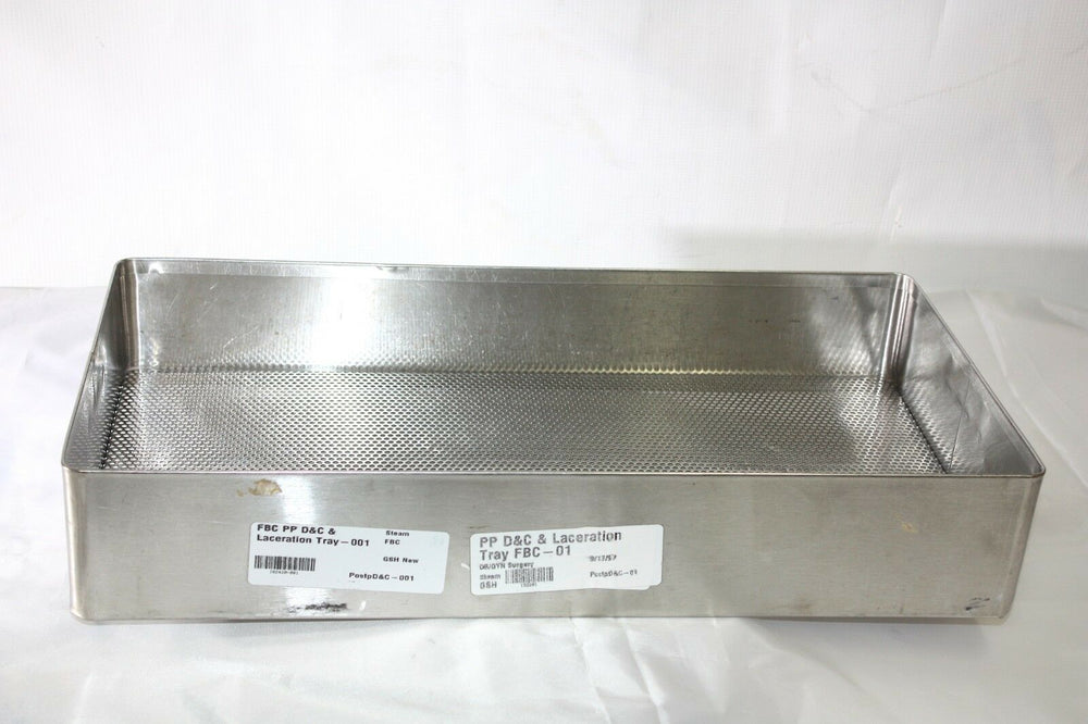 American V. Mueller Stainless Steel Sterilization Tray (25GS)