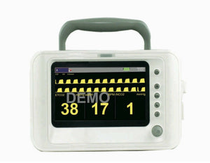 "Portable Veterinary EtCo2 and Respiratory Monitor with Accessories, 7"" Screen"