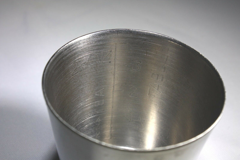 Unmarked Stainless Steel SH-503 Medicine Cup (342GS)