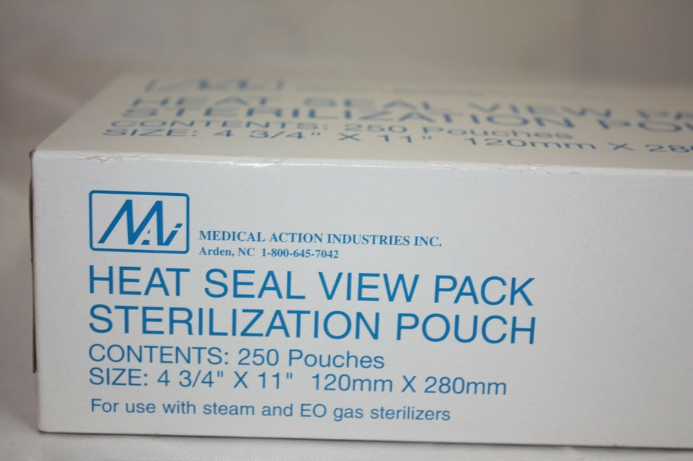 "Heat Seal View Sterilization Pouch (4 3/4"" x 11"") Partial Box (144GS)"