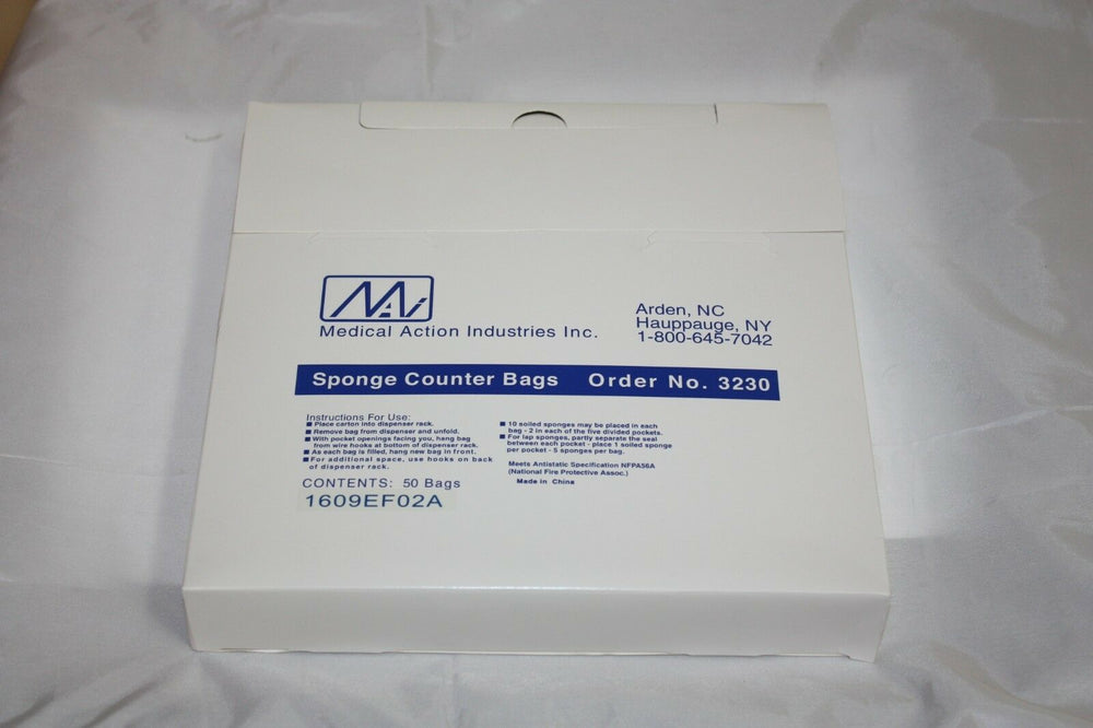 Medical Action Sponge Counter Bags--Pack of 50 (213GS)