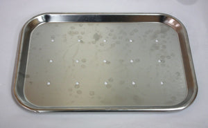 Polar Ware 15F Perforated Stainless Steel Tray (276GS)
