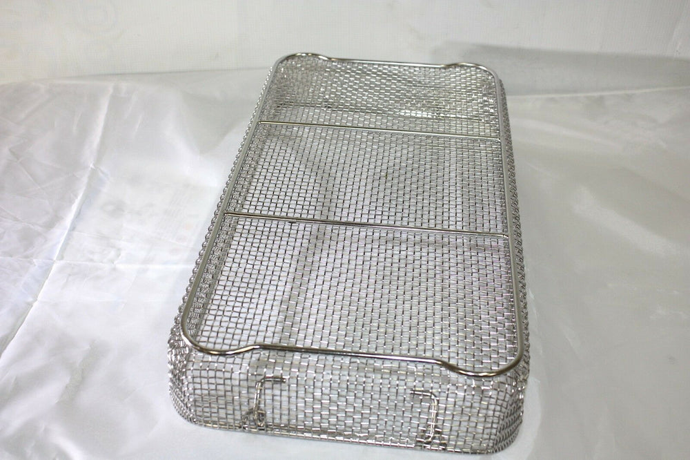 "Stainless Steel Medical Basket 18 3/4"" X 9 3/4"" X 2 3/4"" (308GS)"