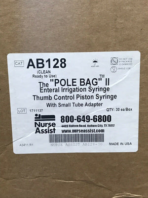 "The ""Pole Bag"" II Enteral Irrigation Syringe - Case of 30 (370KMD)"
