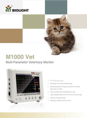 Veterinary Patient Monitor & All Accessories Biolight BLT M1000Vet 6 Parameters