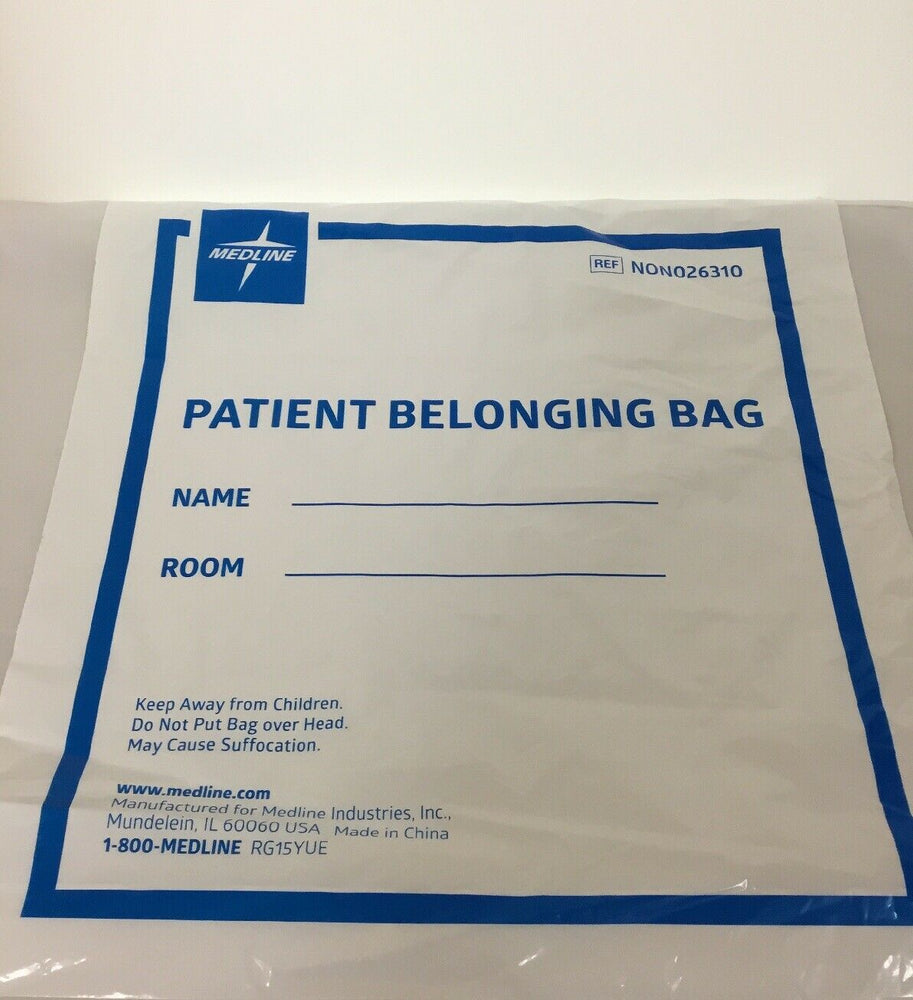 Medline Patient Belonging Bags Lot of 74 (269KMD)
