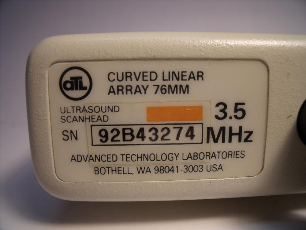 ATL CLA76 Ultrasound 3.5MHZ Curved Linear Array 76MM ProbeTransducer CLA76