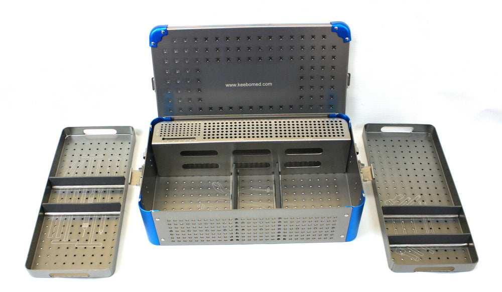 Orthopedic Instrument Empty Case, trays & rack 2.7-3.5-4.0 mm screws - KeeboMed