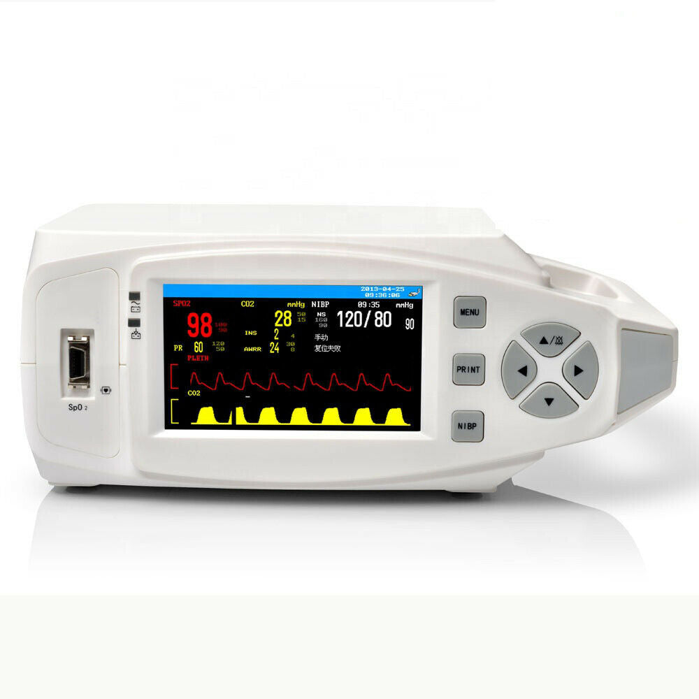 Portable Veterinary Patient Monitor Equipment with Pulse Rate Oximeter and SpO2