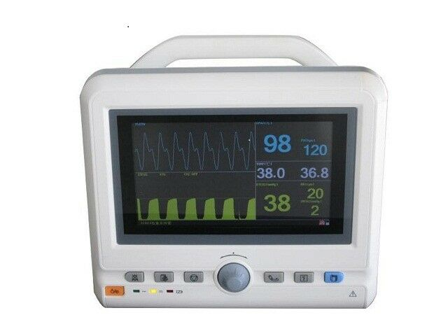 "12"" Veterinary Side Stream Capnograph Patient EtCo2 SpO2 Multi Parameter Monitor"
