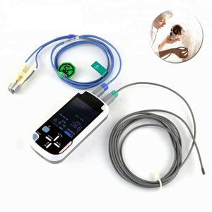 "Veterinary Equipment Handheld 2.8"" Screen Pulse Oximeter with Bluetooth Function"