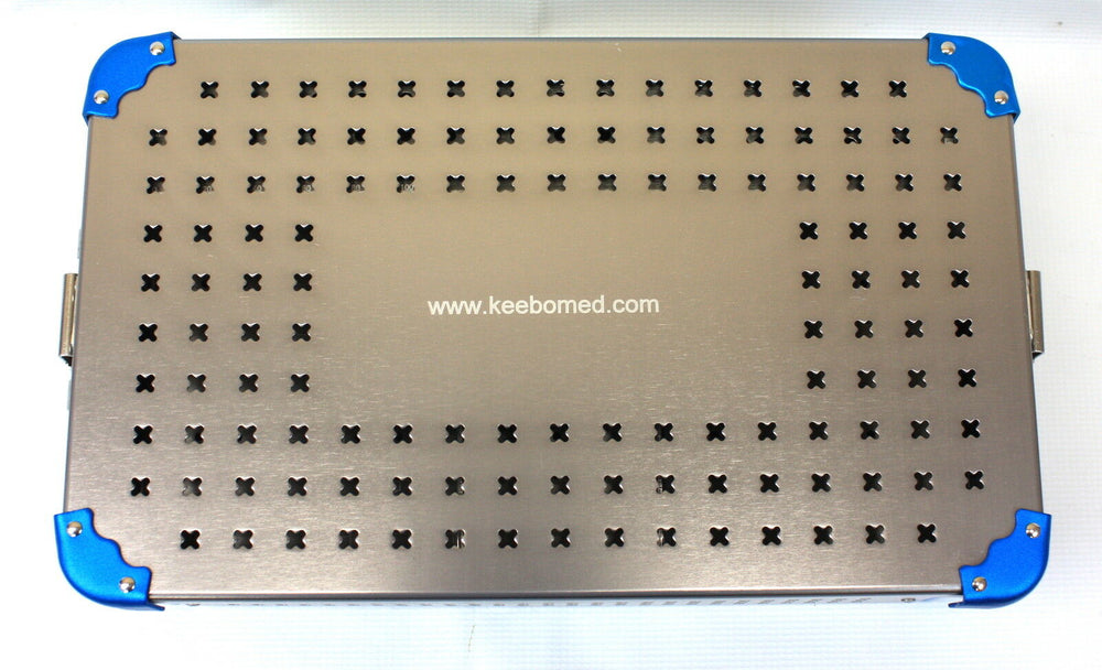 Orthopedic Instrument Empty Case w/trays & rack for 4.5-6.5 mm screws - KeeboMed