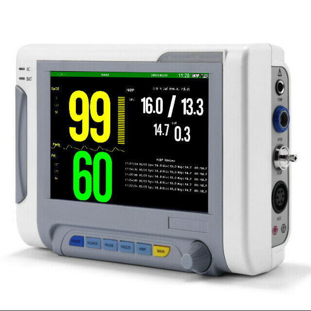 "5 Parameter 7"" Veterinary Vital Signs Monitor"
