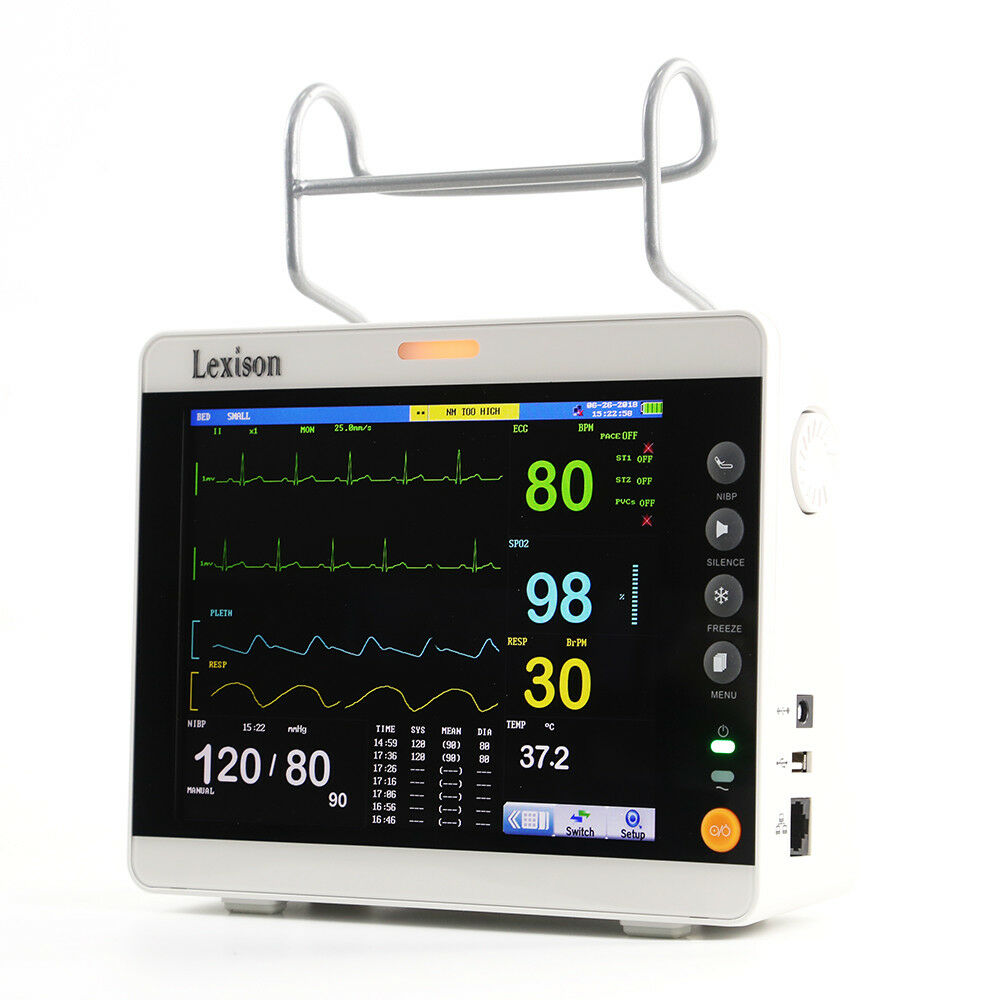 Quality Veterinary Multi parameter Patient Monitor & EtCo2  8.4"