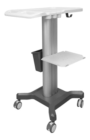 "Medical Cart Trolley for Portable Ultrasound Machines, KeeboMed KM-1 32"" Height"