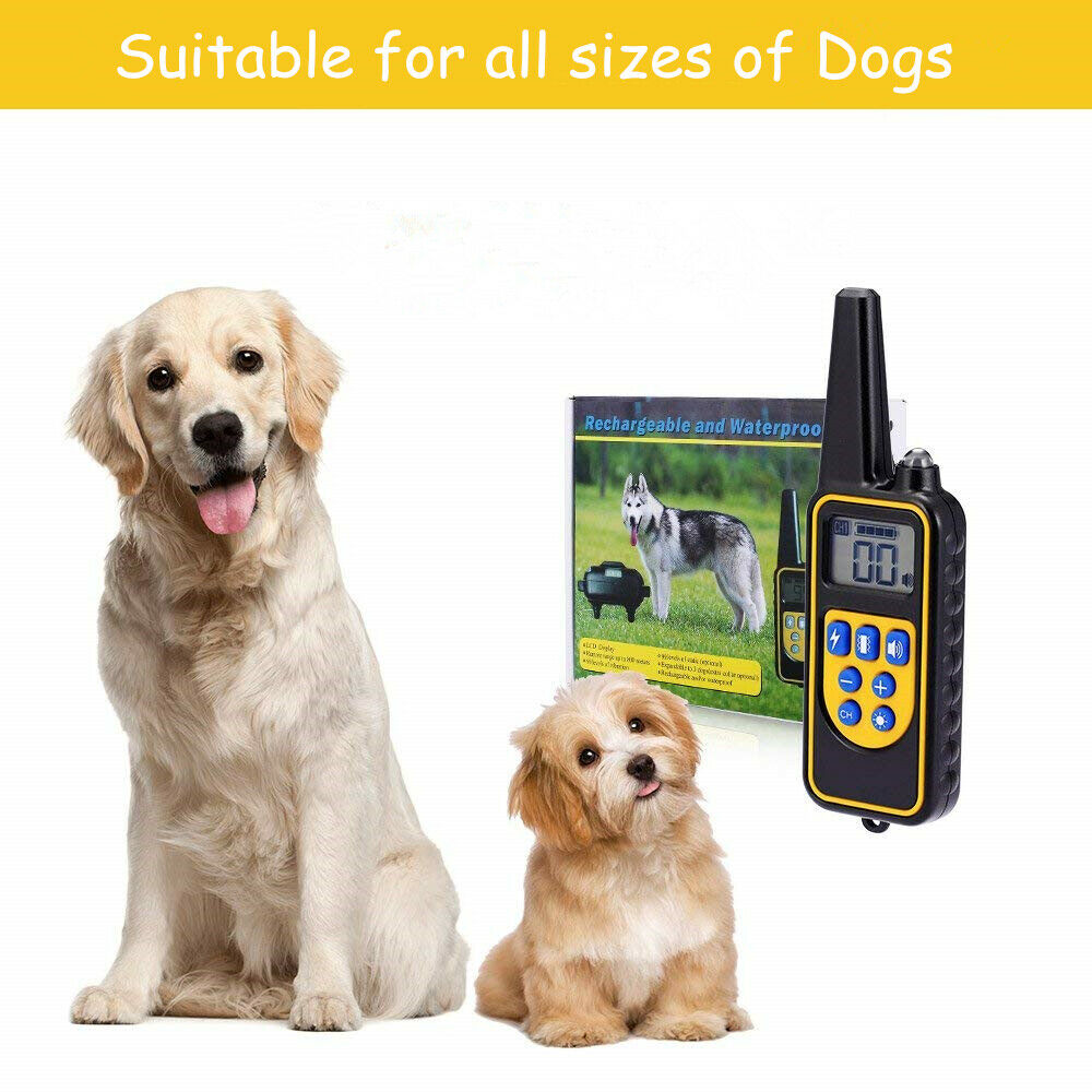 4 Training Modes, Small or Large Dog Sizes, 2500 Feet Dog Training Collar