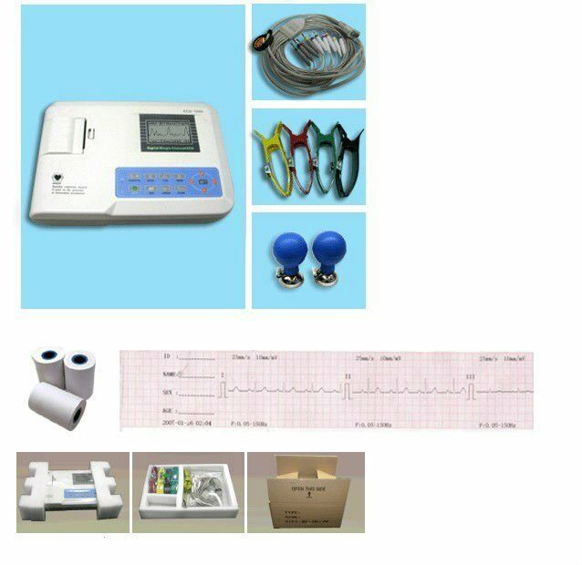 KM100G VET Veterinary ECG/EKG Machine Single-Channel Electrocardiograph