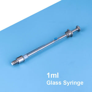 Industrial Glass Syringe 1ML Gas Tightness Borosilicate External Screw Injector