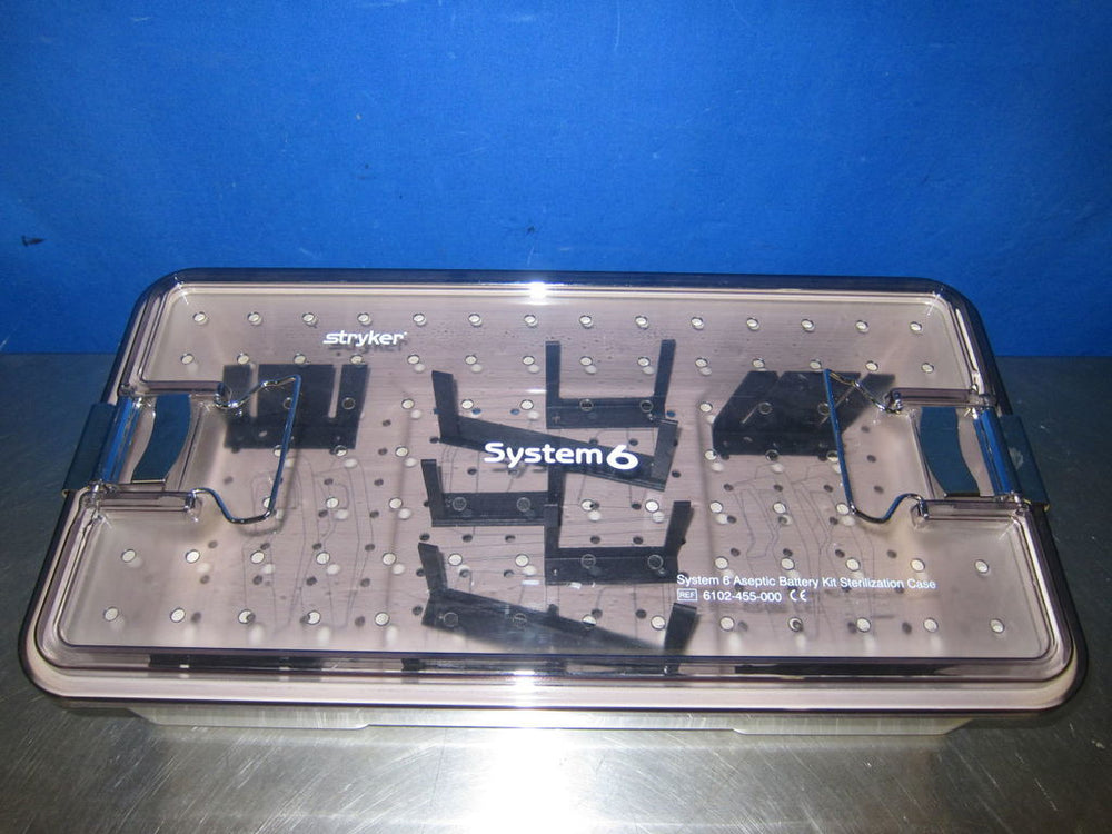 STRYKER System 6 Battery Kit Sterilization Surgical Cases