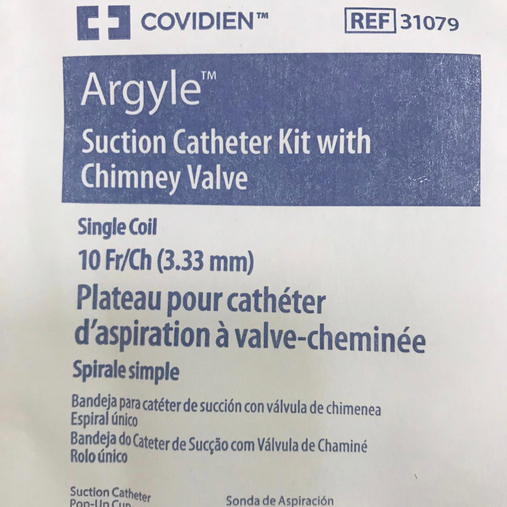 Covidien 31079 Argyle Suction Catheter Kit with Chimney Valve | KeeboMed