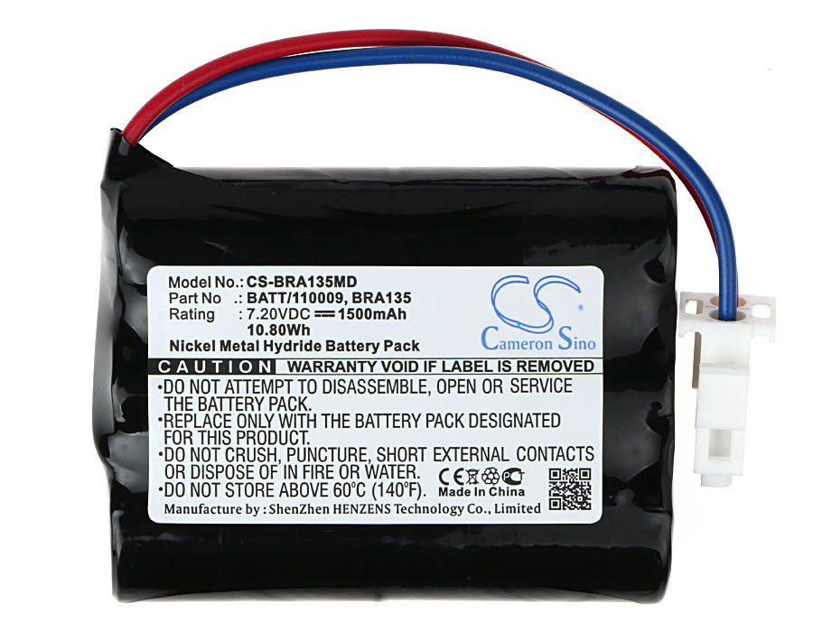 CS-BRA135MD Medical Replacement Battery for Braun