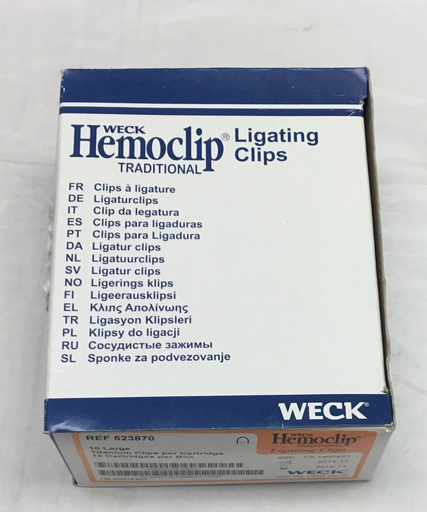 Weck Hemoclip Traditional Ligating Clips