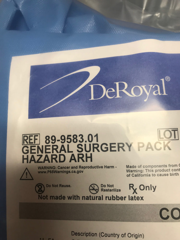 DeRoyal General Surgery Pack