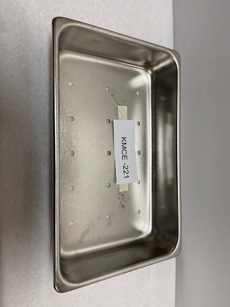 "Polar Stainless Steel 14"" Tray with Holes T304 