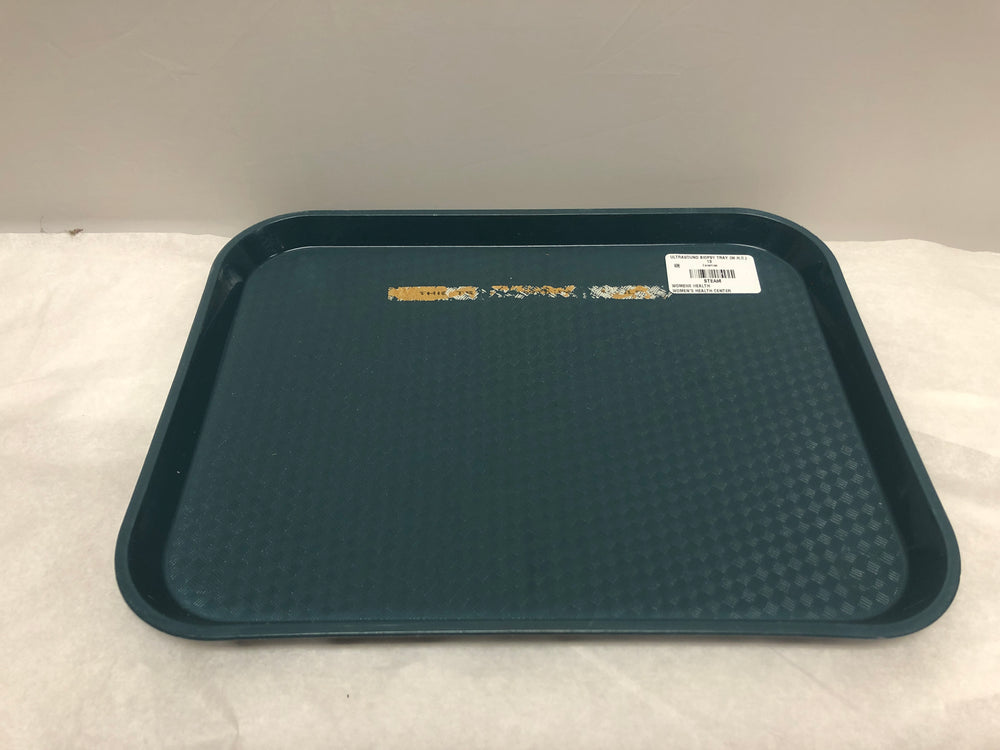 "Forest Green Plastic Surgical 12"" Tray 