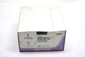 Coated Vicryl Sutures, Violet Braided, Tapered