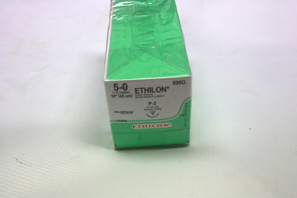 Ethicon 5/0 RC 13mm Nylon Monofilament Sutures | KeeboMed