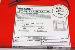 Mustang Over-the-Wire PTA Balloon Dilatation Catheter 6.0mm