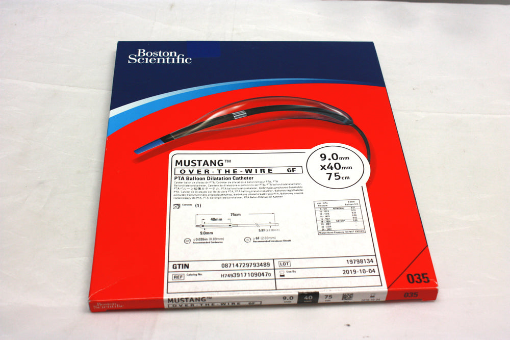 Mustang Over-the-Wire PTA Balloon Dilatation Catheter 10.0mm