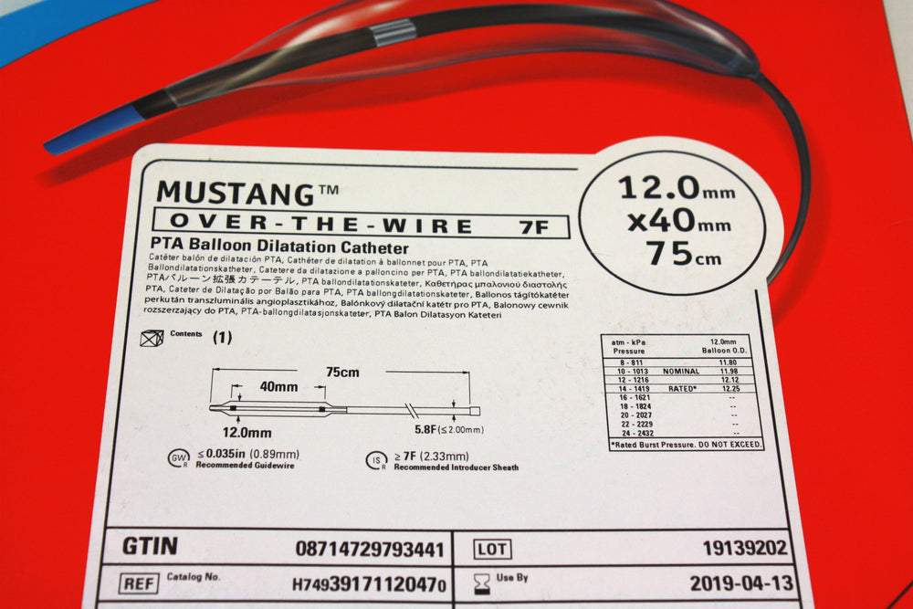 Mustang Over-the-Wire PTA Balloon Dilatation Catheter 12.0mm