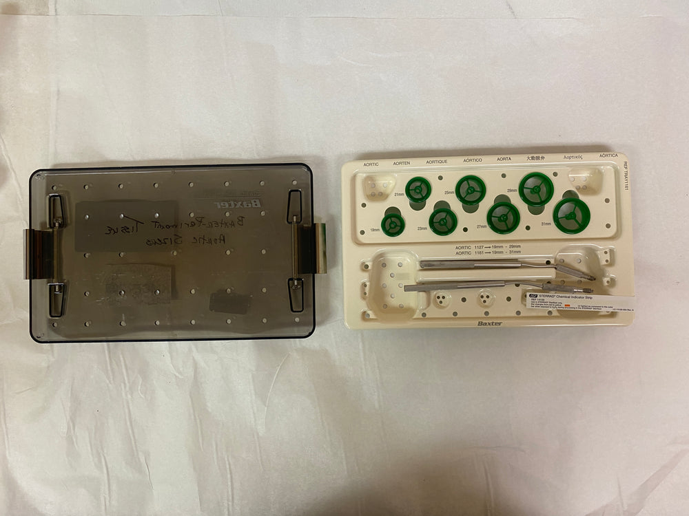 Baxter-Edwards Perimount Aortic Valve Tissue Sizers Tray 1161 19-31mm | KMCE-205