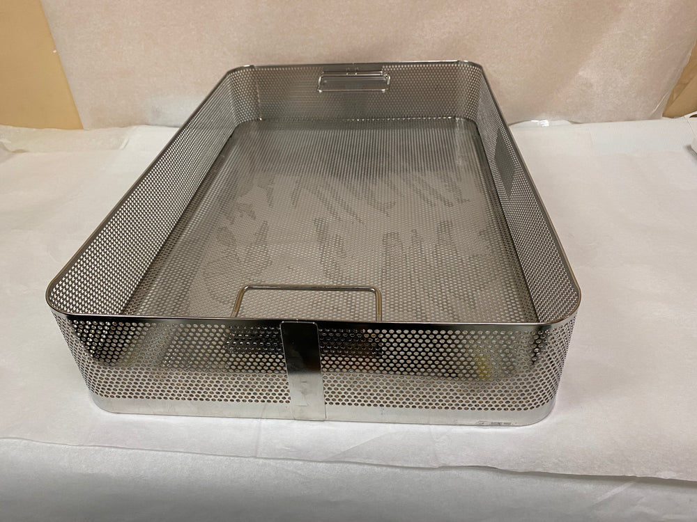 Large Metal Sterilization Tray with Handles 23x15 | KMCE-210