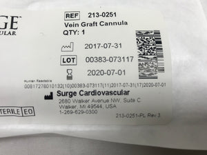 Surge Cardiovascular Vein Graft Cannula