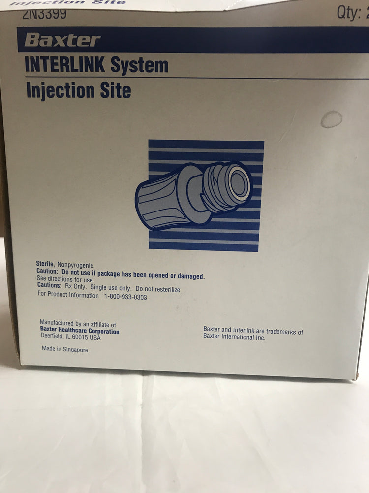 Baxter Interlink Injection Site Box