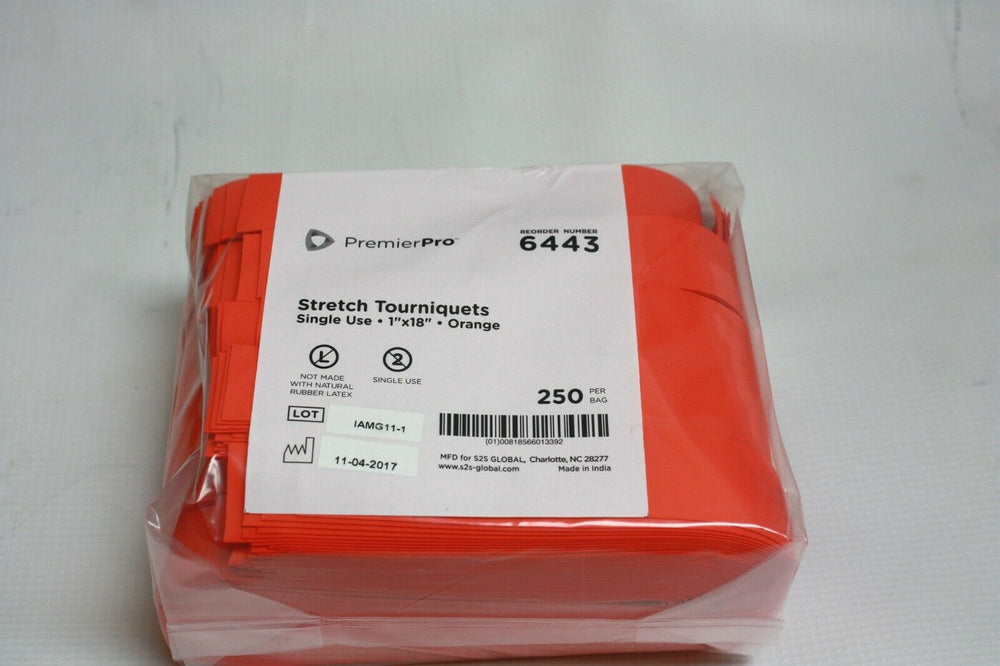 PremierPro Disposable Stretch Tourniquets--Orange