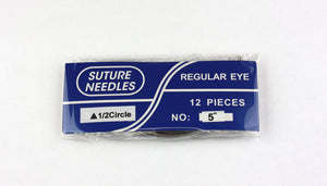C Shaped Regular Eye Veterinary Surgical Needles - Size 5