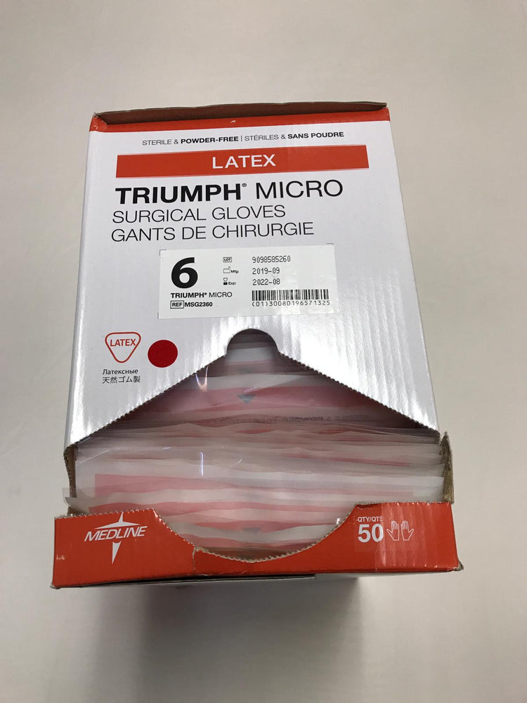 Medline MSG2360 Triumph Micro Surgical Gloves Size 6 | KeeboMed
