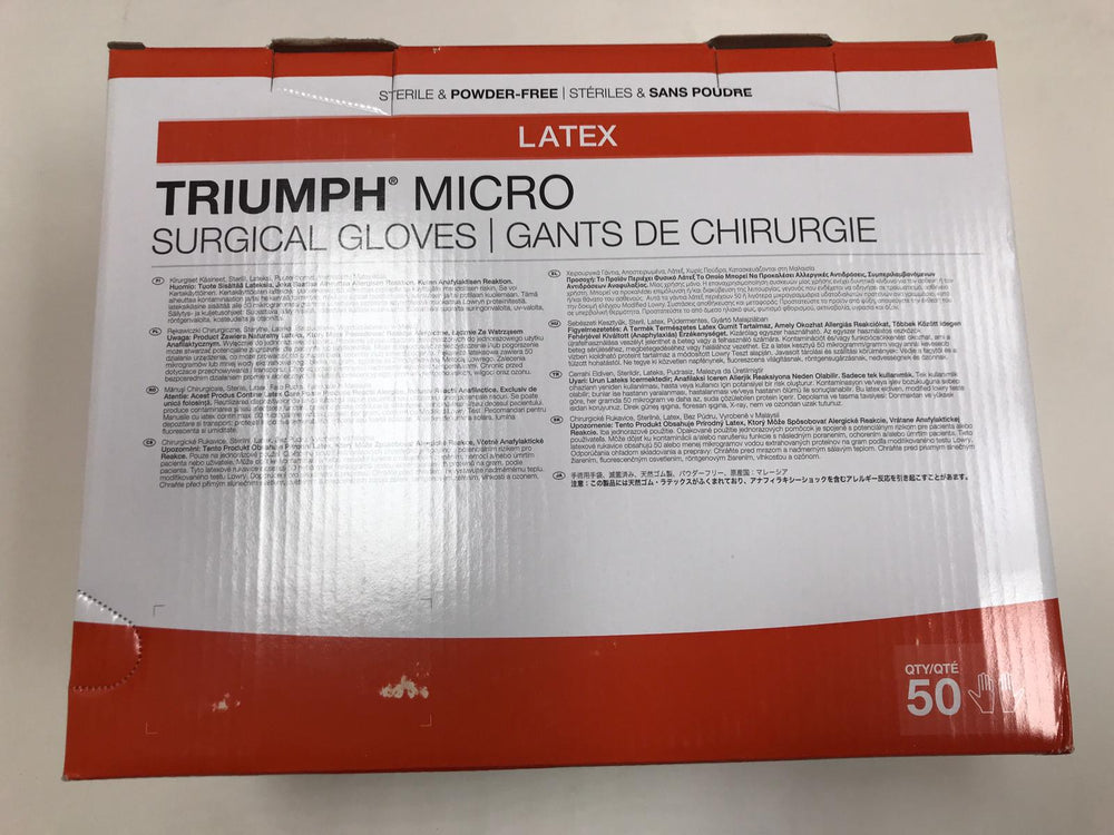 Medline MSG2375 Triumph Micro Surgical Gloves Size 7-1/2 | KeeboMed