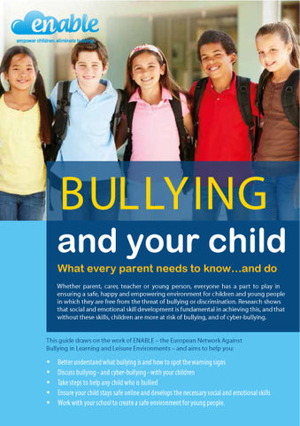Bullying and your child booklet