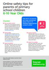 Internet Matters - Online safety guide for parents of 6-10 year olds