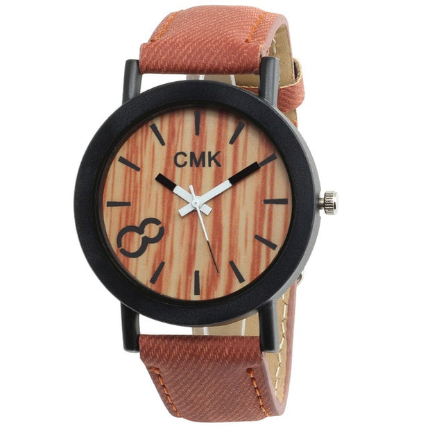 Brown band Wood Grain Watch
